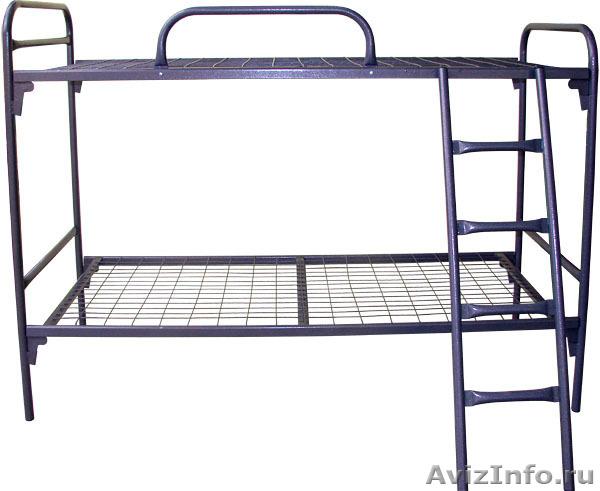 кровати металлические, кровати двухъярусные для общежитий, кровати одноярусные, Объявление #696162